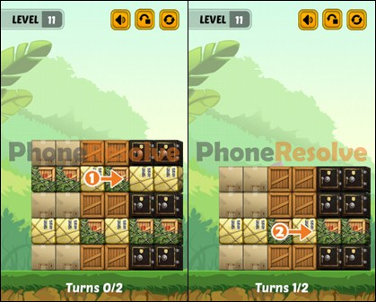 Swap The Box Jungle Level 11 Walkthrough
