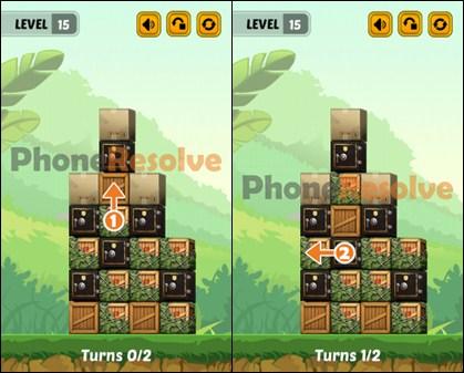 Swap The Box Jungle Level 15 Walkthrough