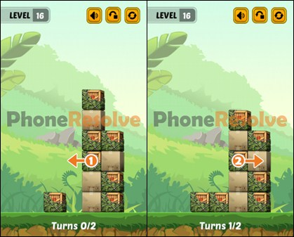Swap The Box Jungle Level 16 Walkthrough