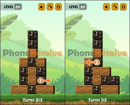 Swap The Box Jungle Level 20 Walkthrough