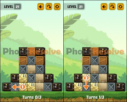 Swap The Box Jungle Level 21-1 Walkthrough