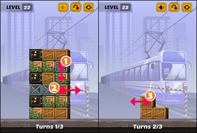 Swap The Box Train Level 22 Walkthrough