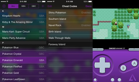 GBA4IOS 2.0 Pokemon FireRed and LeafGreen Cheats