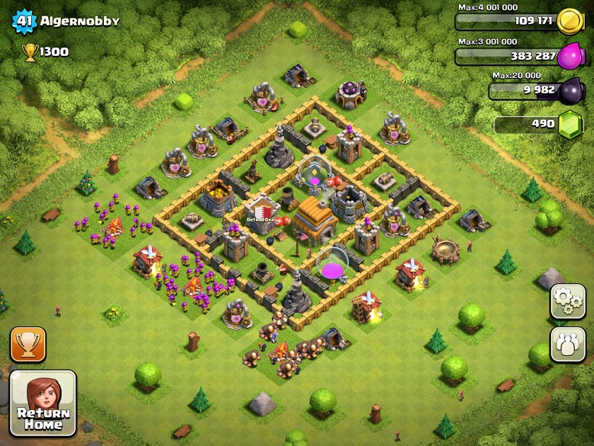 Best defence for clash of clan town hall level 6