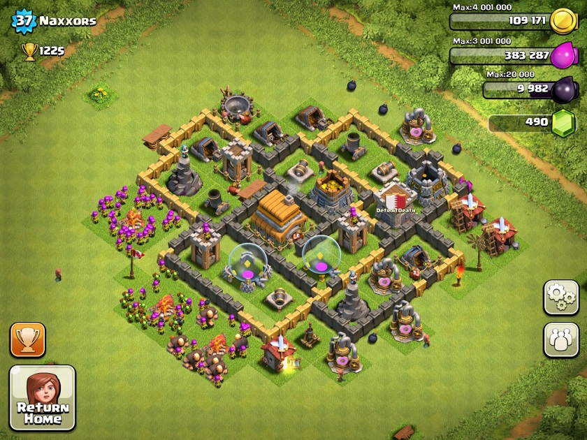 Best clash of clans defense strategy town hall level 6