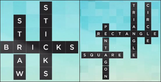 Bonza Word Puzzle Pack 1 Level 1 and 2