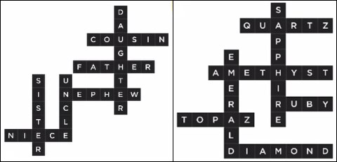 Bonza Word Puzzle Pack 1 Level 25 and 26