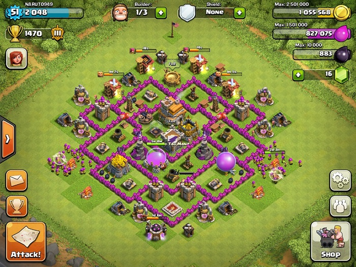 Top Clash of Clans Defense Strategy Town Hall Level 7 Layout 2