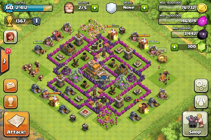 Top Clash of Clans Defense Strategy Town Hall Level 7 Layout 3