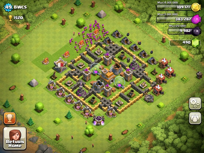 Top Clash of Clans Defense Strategy Town Hall Level 7 Layout 4