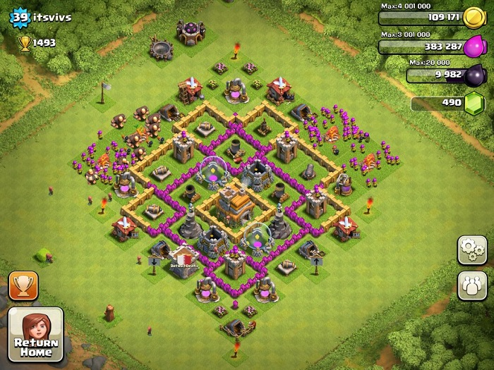 Top Clash of Clans Defense Strategy Town Hall Level 7 Layout 5