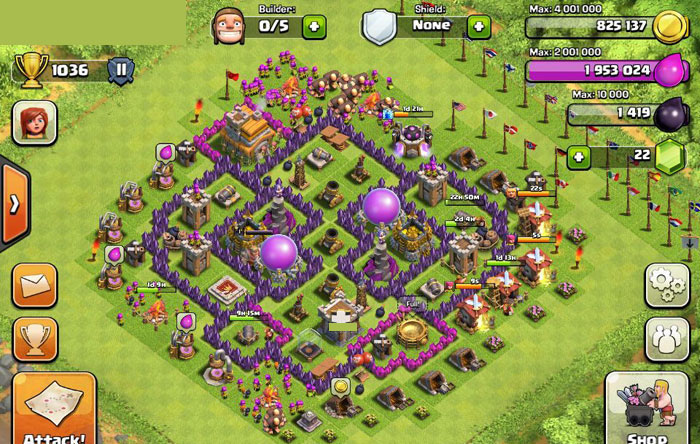 Top Clash of Clans Defense Strategy Town Hall Level 7 Layout 7