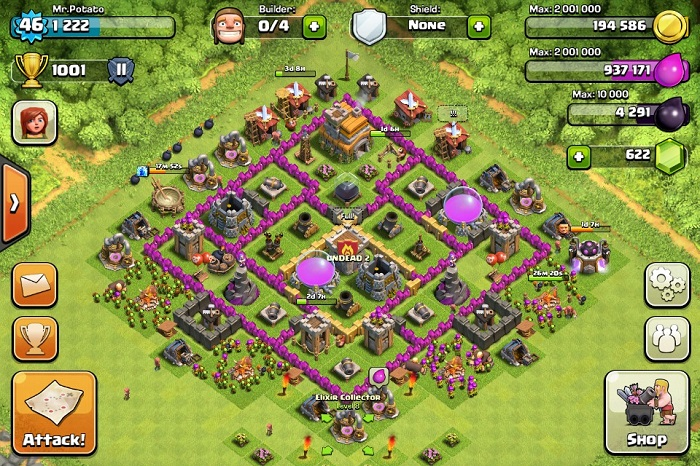 Top Clash of Clans Defense Strategy Town Hall Level 7 – PhoneResolve