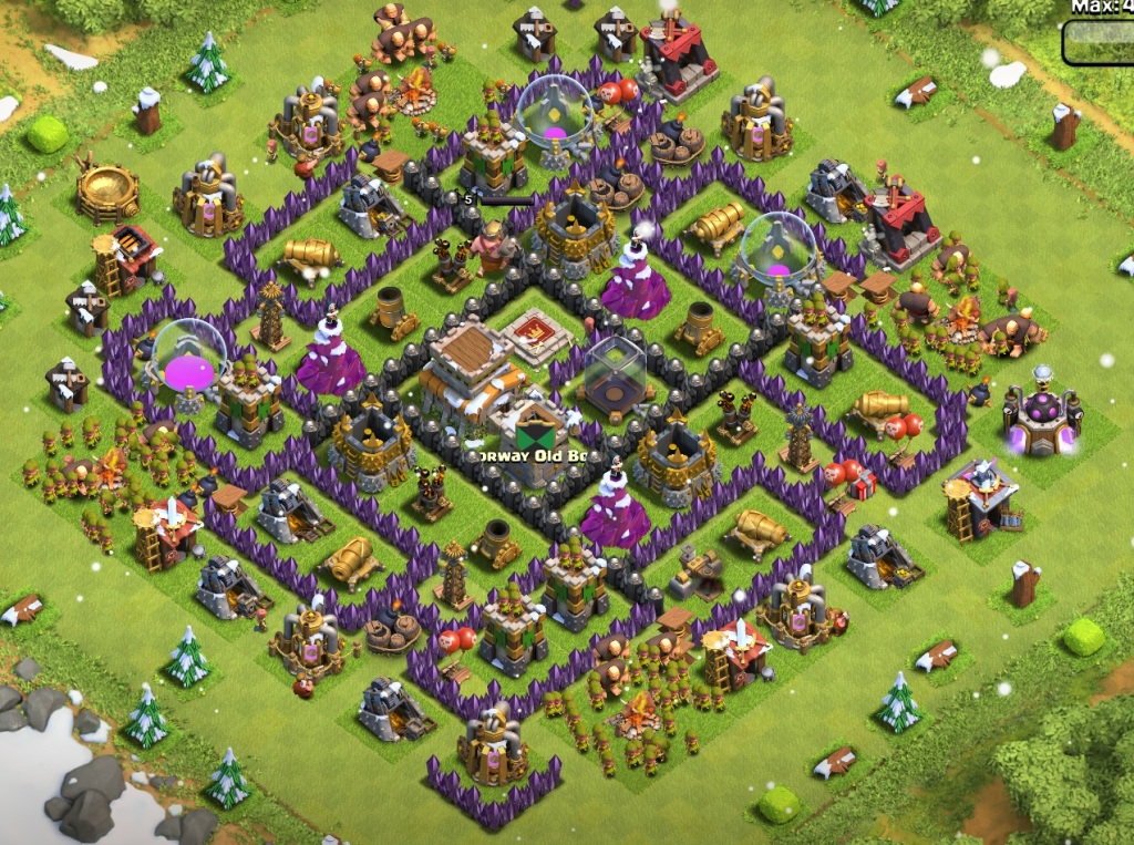 Town Hal Lvl 8 Base Layout 1