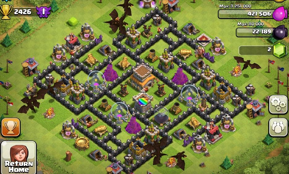 Town Hal Lvl 8 Base Layout 3