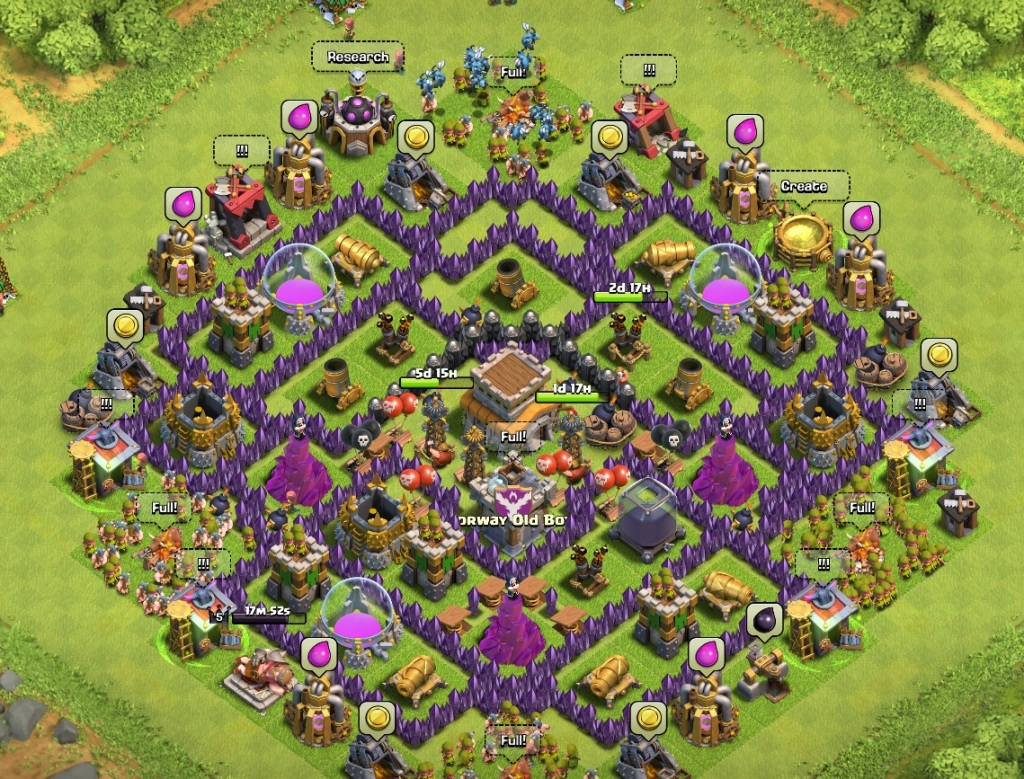 Best Clash of Clans town hall level 8 defense strategy ...
