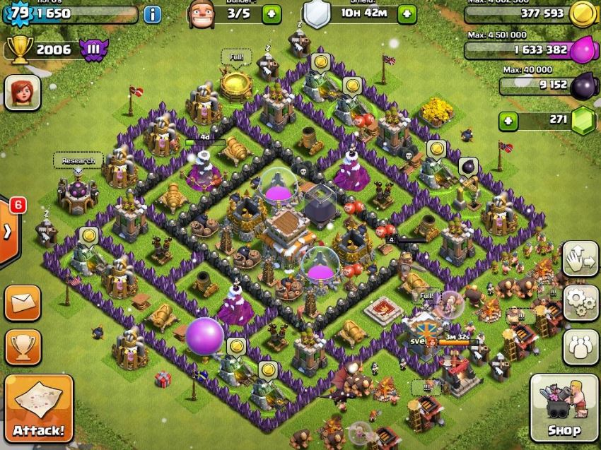 Of clans town hall level 8 defense layout clash of clans best defense