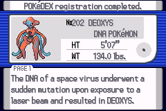 Pokemon Light Platinum Deoxys