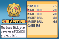 Pokemon Light Platinum  Masterball