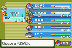 Pokemon Glazed strong team