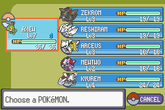 Pokemon Victory Fire strong team