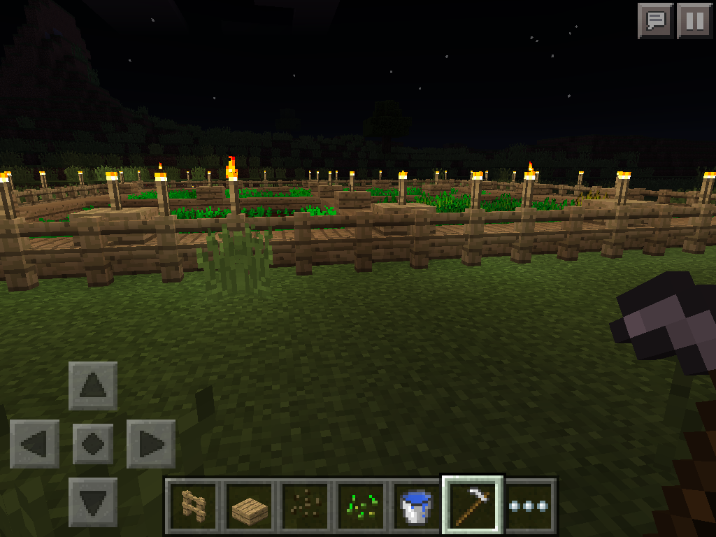 MCPE farming light levels