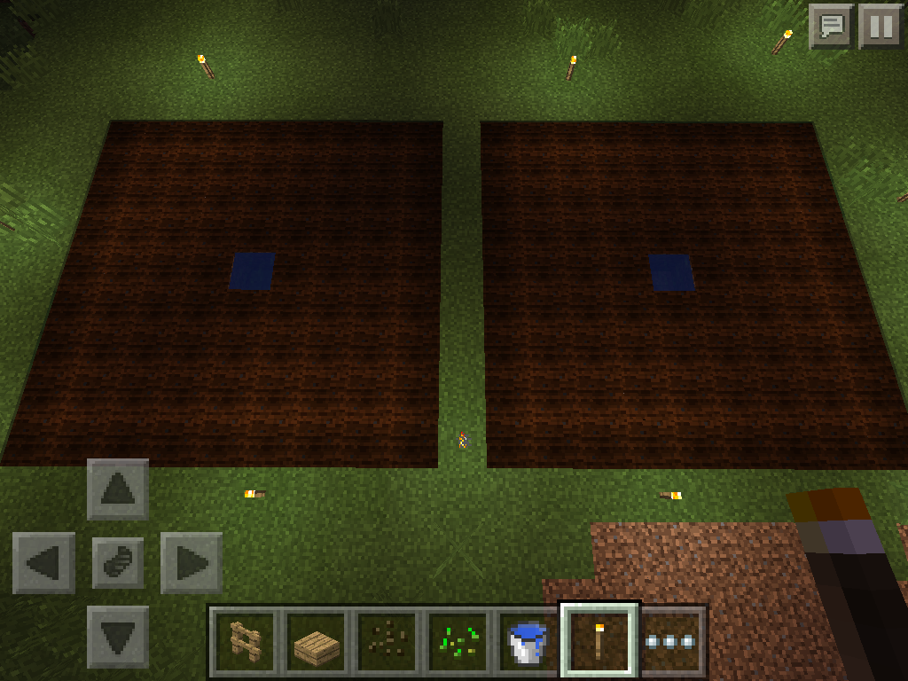MCPE melon and pumpkin farm
