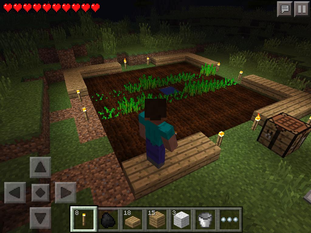 basic farm - night lighting