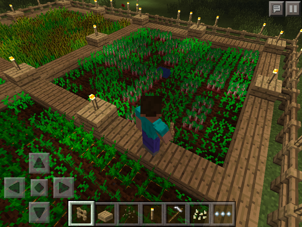 MCPE how to grow wheat, carrots, potatoes - beetroot