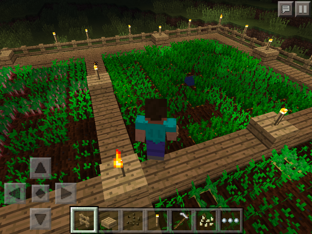 MCPE how to grow carrots, potatoes, wheat - carrot growth stage