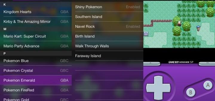 GBA4iOS 2.0 Pokemon Emerald Cheats