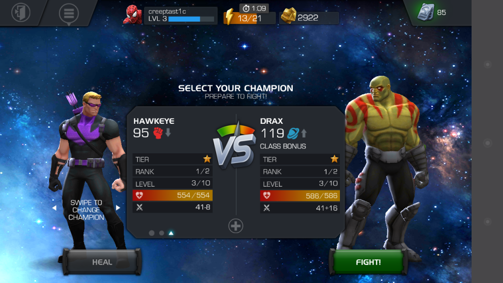 "Generateur ""Marvel Contest of Champions"" mod"